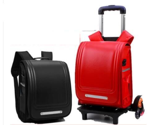 Японская ортопедическая школьная сумка Детский рюкзак для мальчика PU Япония рюкзак-тележка для школы для девочек колесный рюкзак сумка для...