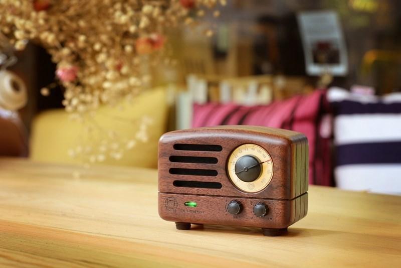 ICL classique roi petit Prince OTR Bluetooth haut-parleur FM radio bois Mini lecteur de musique sans fil audio MW-2 pour PC téléphone portable - 2