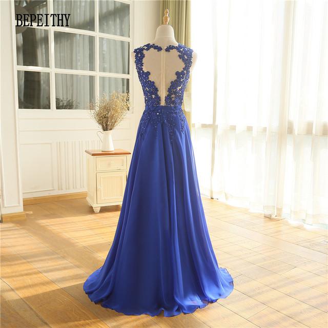 BEPEITHY New Arrival Custom Made Vestido Longo Chiffon Long Evening Dress Prom Dress Robe De Soiree Longue Party Gown
