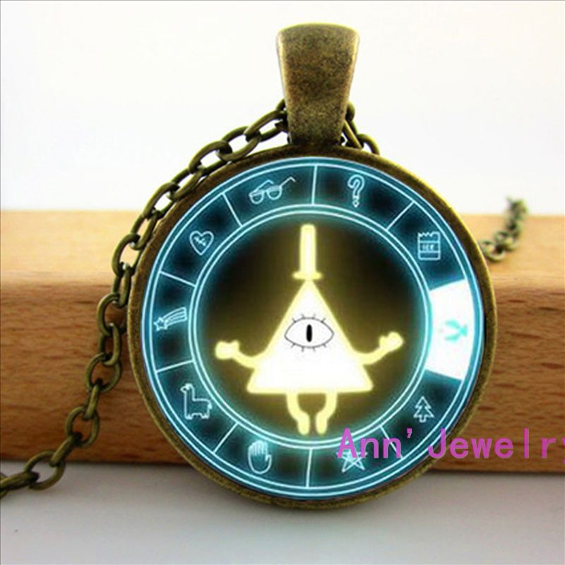 W-083 Drama Falls Mysteries BILL CIPHER WHEEL Steampunk Pendant Necklace doctor who 1pc mens vintage HZ1