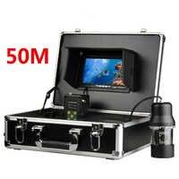 """7 """"TFT Monitor 50 M Cabo de 360 graus de rotação Câmera Subaquática Câmera Subaquática Da Pesca cor monitor de peixe localizador de peixe"""