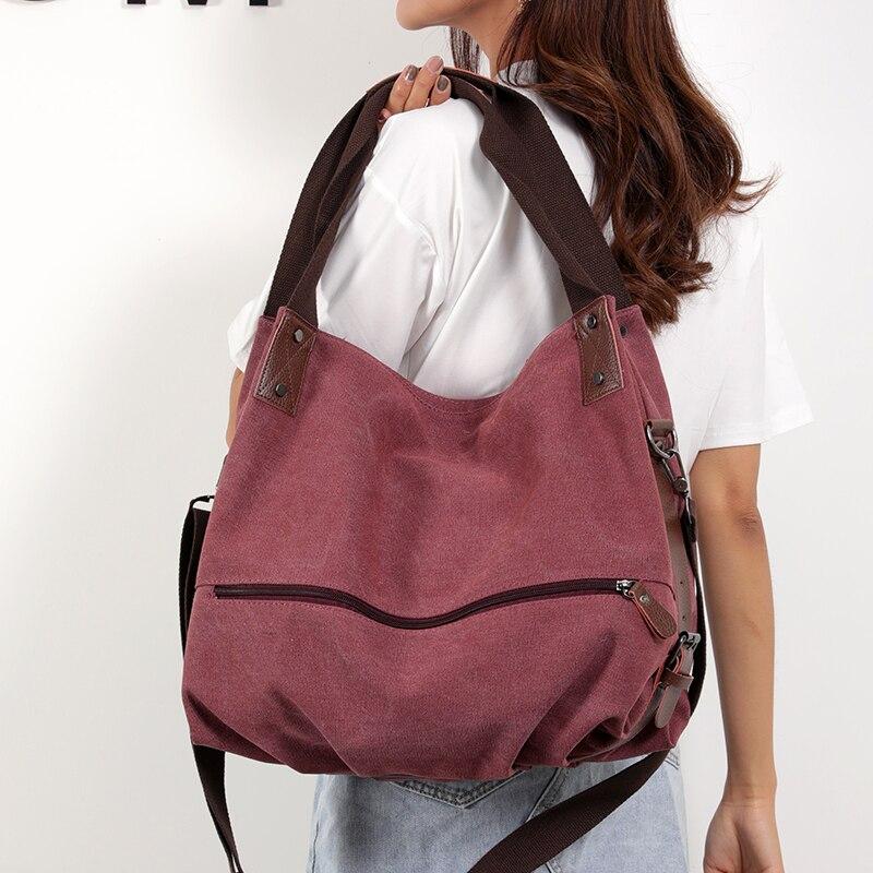 Bolsa de ombro para mulheres 2019 bolsa de lona bolsas de mão de algodão das senhoras bolsa de ombro