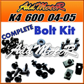 Addmotor 121 peças/set de parafuso parafusos Kit corpo preto carenagem completo para Suzuki GSXR600 750 K4 2004 - 2005 K4 04 - 05 S64S