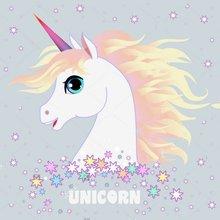 Magia dos desenhos animados do Unicórnio cavalo cabelo colorido da estrela do ouro Fundos backdrops Vinil pano de Alta qualidade de impressão Computador aniversário