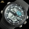 Multi-functional fashion fluorescent pointer diving sports mens digital watch C1276