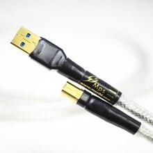 HiFi MPS HD-300 HiFi 99.9997% OCC+ серебряная платформа 24k 10u позолоченный штекер USB2.0 3,0 разъем аудио кабель ЦАП ПК кабель для передачи данных и аудио