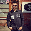 140kg Mens Casual Shirt Long Sleeve 2016 Autumn Men Clothing Male Black Shirt Plus Size XXXXL XXXXXL XXXXXXL 1112shirt