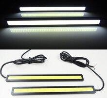 Auto дневного оптовые drl парковка фонари стайлинга cob света универсальный автомобиль