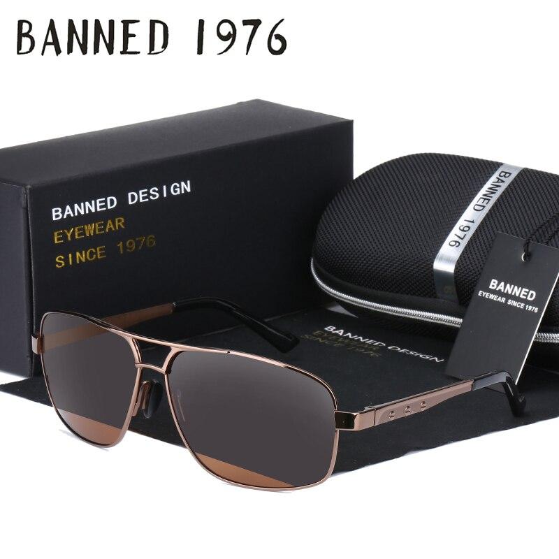 Tamanho grande HD Óculos Polarizados dos homens novos de Proteção UV de Alta Qualidade oculos de sol masculino de metal além de óculos de sol para homens com caixa