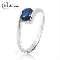 Heißer verkauf mode-design silber saphir ringe für frauen solide 925 silber saphir ring 0,5 ct natürlichen saphir edelstein