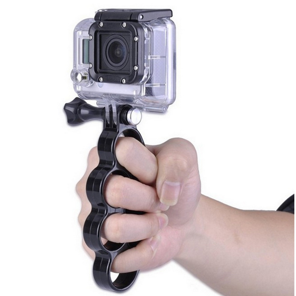 Sport Action Camera Accessories Knuckles Hand Finger Grip Mount Handle Holder for Gopro Hero 4 3 3 in Sports Camcorder Cases from Consumer Electronics