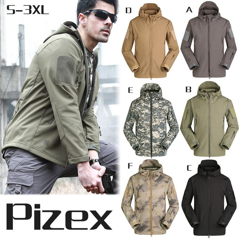 Men Outdoor Softshell Jacket Military Tactical Waterproof Sportswear Hiking Hiking Fishing Jacket Male Winter Coat