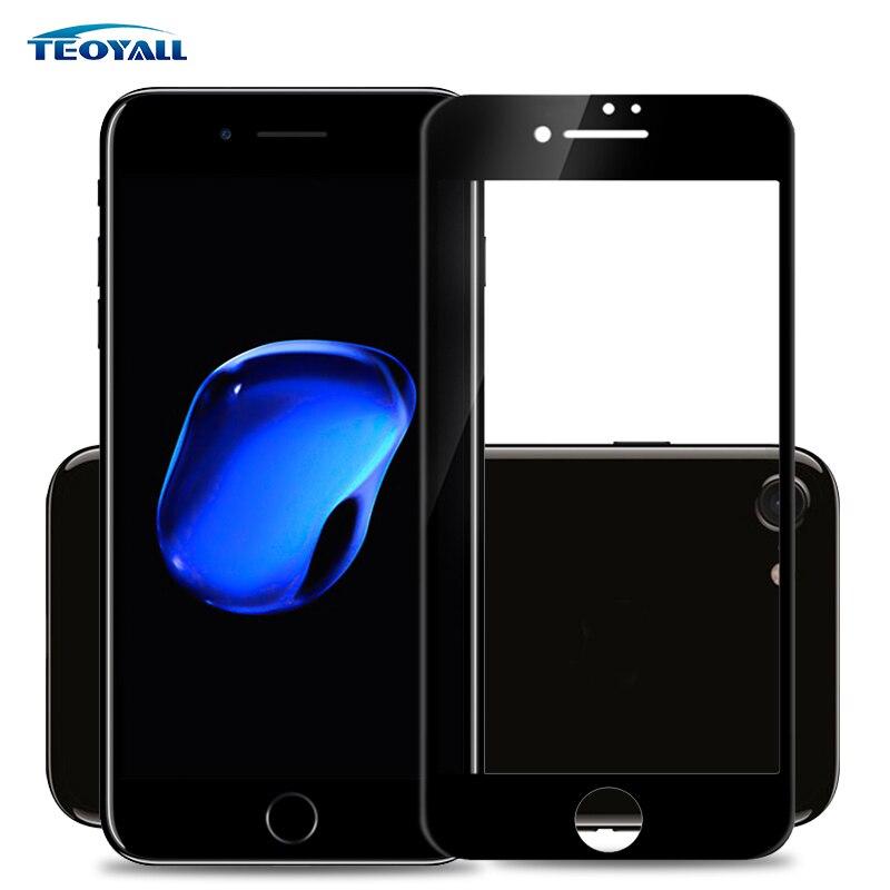 TeoYall pełna pokrywa szkło hartowane ochraniacz ekranu dla iPhone 6 6s Plus 8 7 7Plus 5 5S 5c SE 2.5D 9H szkło folia ochronna