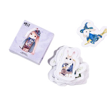 45pcs/pack Kawaii Alice Rabbit Animals Stickers Adhesive DIY Decoration Mini Paper Dairy Sticker