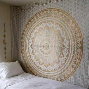 Image 4 - שטיחי קיר תלוי ההודי מנדלה שטיח טאי צ י Hippie בוהמי דקורטיבי קיר יוגה שטיח מחצלות
