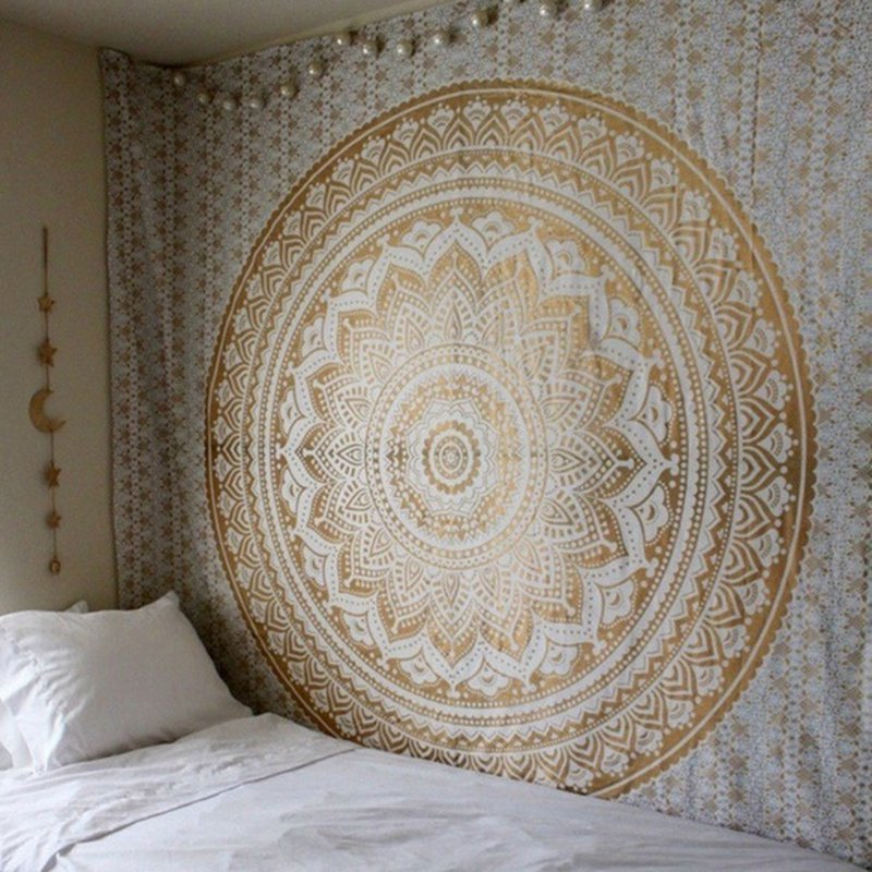 Image 4 - Wall Hanging Tapestries Indian Mandala Tapestry Tai Chi  Hippie Bohemian Decorative Wall Carpet Yoga Mats-in Tapestry from Home & Garden