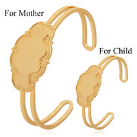 Kpop New Infinity Cuff Bracelet & Bangle For Mother And Child Bangle Set Fashion Jewelry Wholesale S521