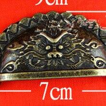 Античная голова льва Потяните ручную ручку шкафа полукруг цинковый сплав оболочка для переноса ручки 01