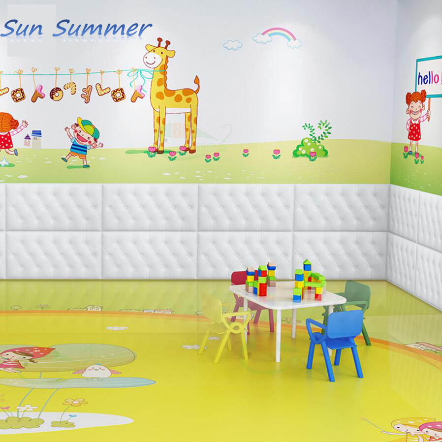 30*60cm/pc self adhesive wall stickers 3d wallpapers for kid room ...