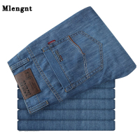Big Size 50 52 Summer Casual Mens Thin Jeans 100 Cotton Male Denim Pants Overalls Baggy