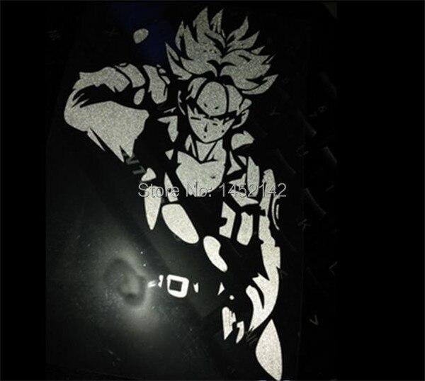 Kakarotto anime sticker Super Saiyan stickers reflective windshield decals  motorcycle car styling for bikes ATV