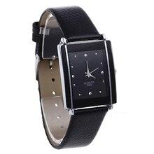 2015 New Hot New And Fashion Women's Men's watches Sport Rhinestone Dial Faux Leather Band Quartz Wrist Watch 5LFC 6T5U W2E8D