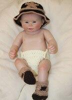 20 дюймов 50 см все тело силиконовая виниловая коллекция Reborn Реалистичная кукла младенцы кукла новорожденная настоящая кукла милый мальчик