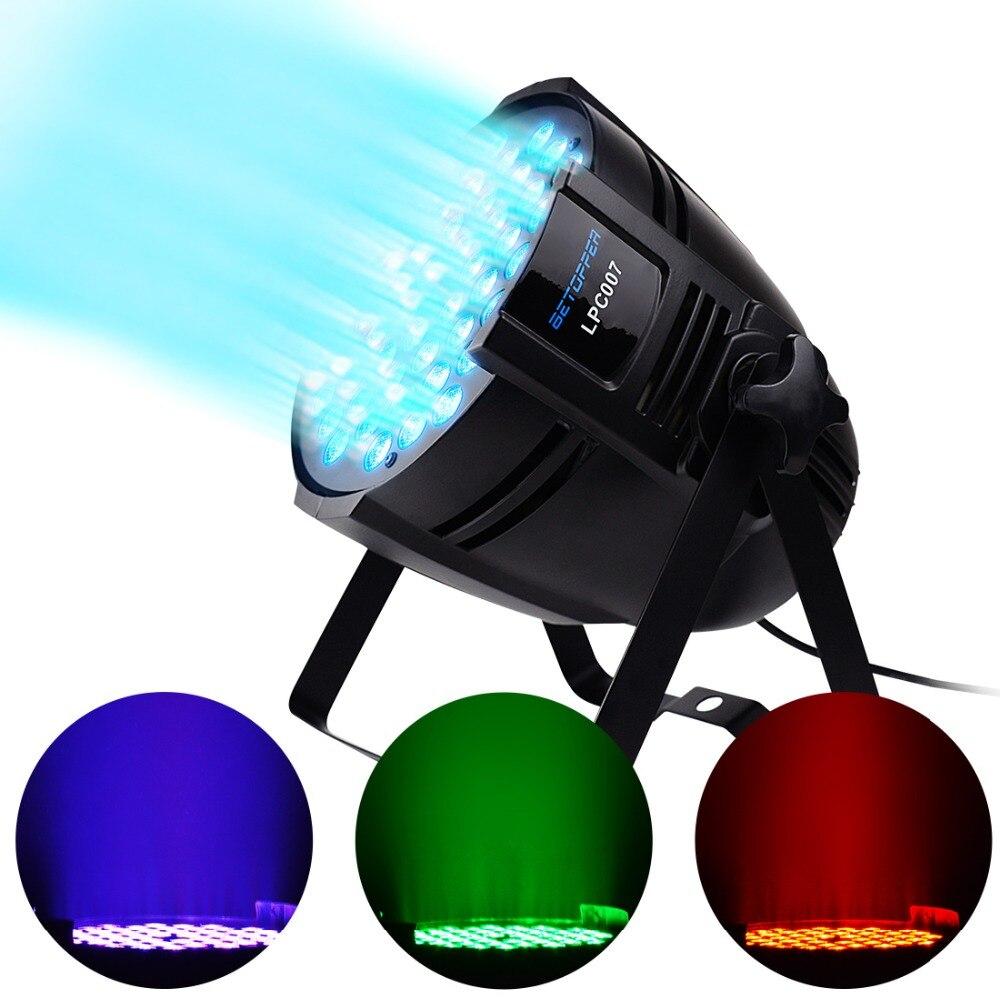 BETOPPER LED DJ PAR Light 54X3W RGB LED Stage Lights 180W DMX 512 Stage Lighting for DJ Wedding Party Church Concert Dance Stage