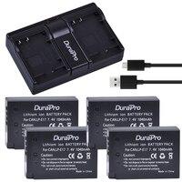 4Pcs 7 4V 1040mAh LP E17 LPE17 LP E17 Battery USB Dual Charger For Canon EOS