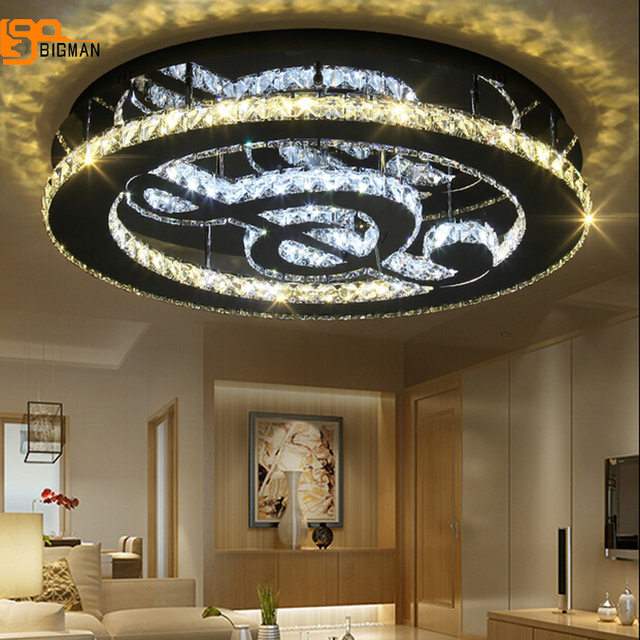 nouveau k9 cristal moderne plafonnier led lampe pour salon plafonniers lustre appareil d. Black Bedroom Furniture Sets. Home Design Ideas