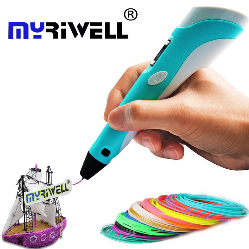 3d pen Christmas gift 3D Drawing Pen V2 With 20 Color 100M Filaments For Children Printing