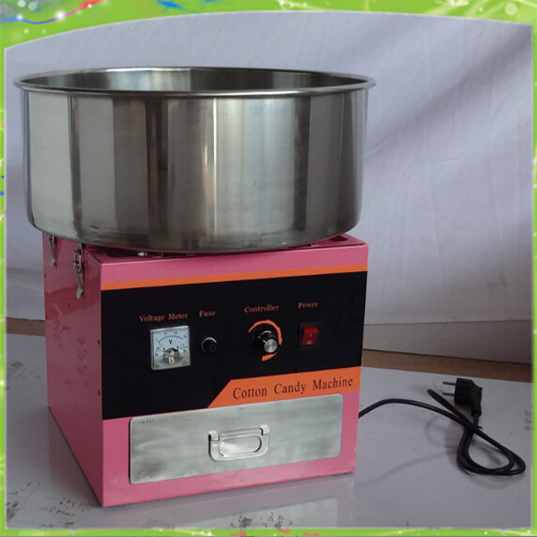 220V 1030W power Electric Commercial Candy Floss Cotton Machine candy floss machine cotton candy machine with cover professional cotton candy floss machine cotton candy vending machine with low price