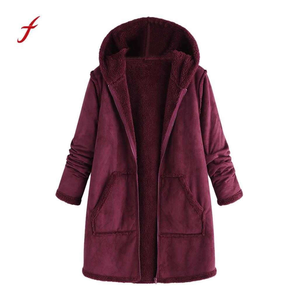 Frauen Kleidung & Zubehör Zielstrebig Winter Jacke Frauen Tasche Winter Plüsch Mit Kapuze Langarm Warme Mantel Frauen Plus Größe Winter Hardy Warme Baumwolle Mantel Plus Größe