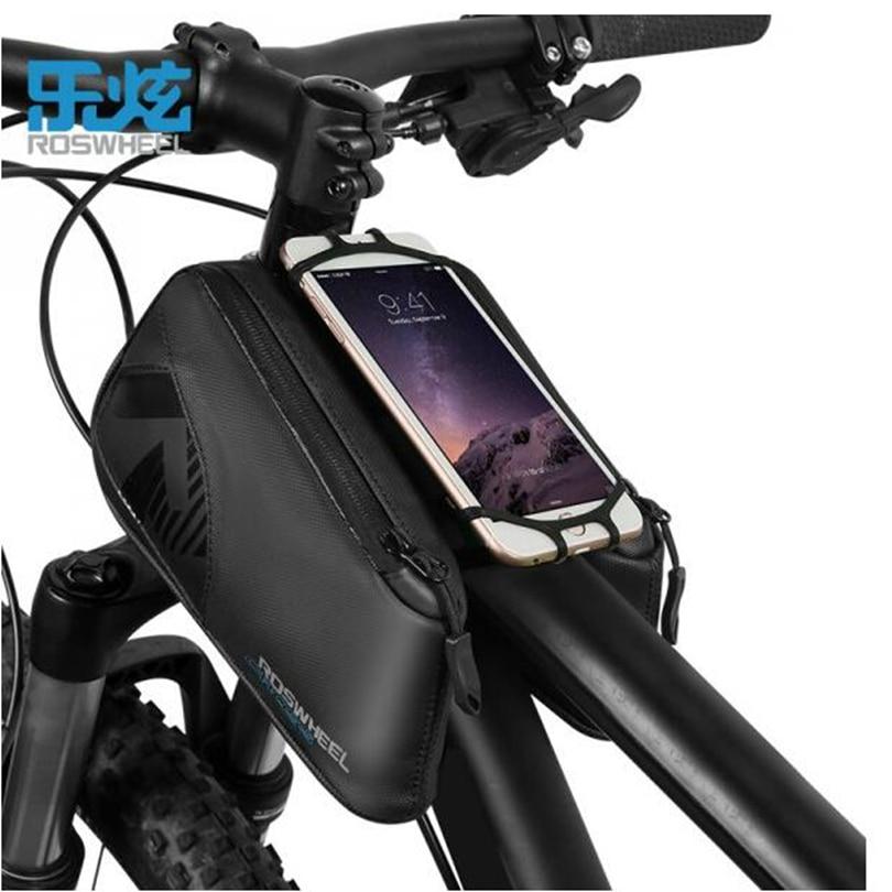ROSWHEEL vélo vélo Triangle sac CROIX série vélo top tube sac pour 4.0-6.7 pouce téléphone accessoires imperméable 1680D nylon