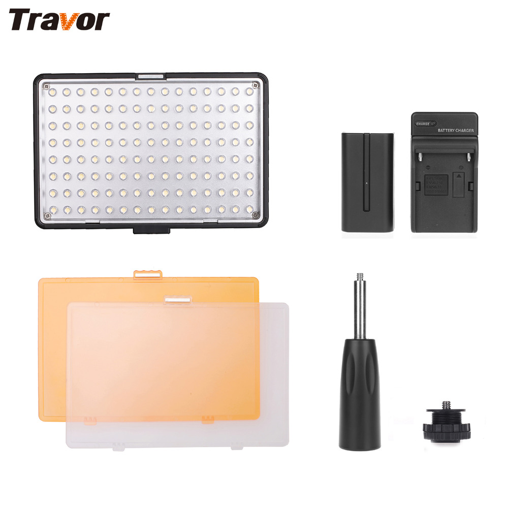 Travor 120 LED Video Light 3200K 5500K On Camera Video Hotshoe LED Lamp For Canon Nikon Sony DV Camcorder DSLR With F550 Battery цена