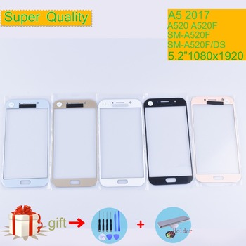 For Samsung Galaxy A5 2017 A520 A520F SM-A520F SM-A520F/DS Touch Screen Front Glass Panel A5 2017 SM A520 TouchScreen Outer Lens