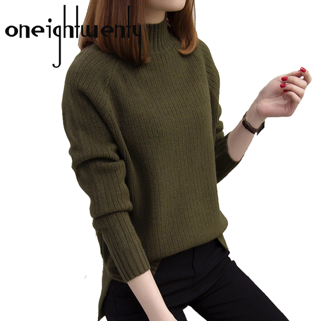 d5c63677c0 Women Turtleneck Winter Sweater Women 2018 Long Sleeve Knitted Women  Sweaters And Pullovers Female Jumper Tricot