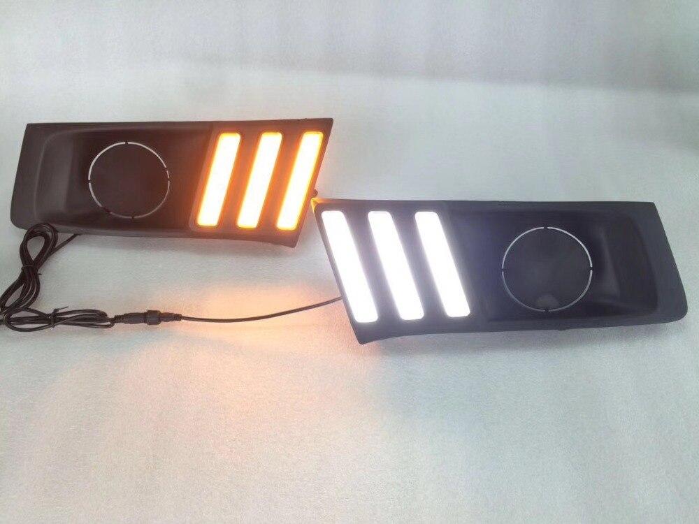 Osmrk светодиодные DRL фары дневного света с желтый сигнал поворота, беспроводной переключатель для Сузуки Витара на 2015-17 новый стиль