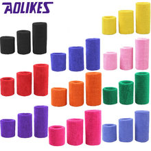 AOLIKES 1PCS Tower Wristband Tennis/Basketball/Badminton Wrist Support Sports Protector Sweatband 100% Cotton Gym Wrist Guard(China)