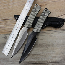 Tactical Straight Knife Ergonomic Comfortable Handle One Keel Outdoor Equipment Hunting Survival Pocket Tool