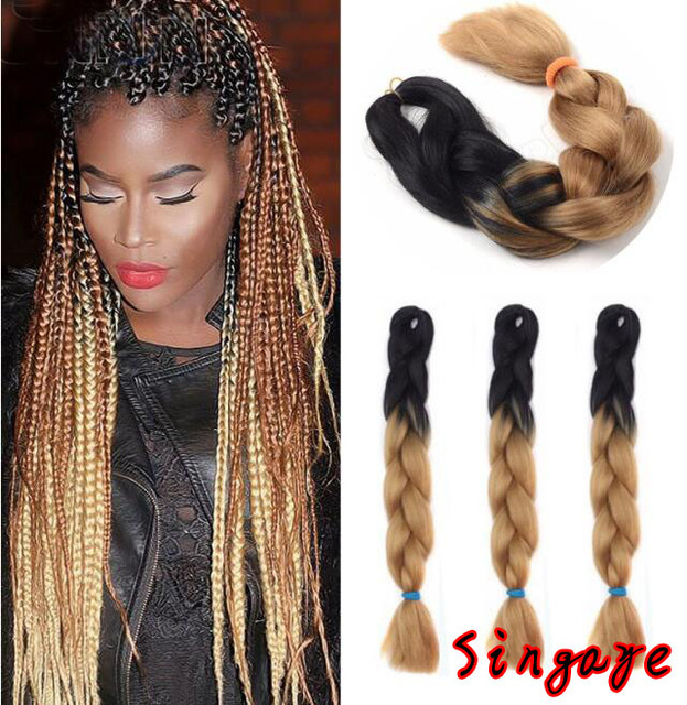 1 bunch 2460cm jumbo braids hair extension african braided hair 1 bunch 2460cm jumbo braids hair extension african braided hair ombre braiding hair pmusecretfo Images