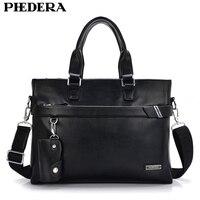 Hot Sale Men Genuine Leather Briefcase Male Business Shoulder Bag Travel Bag Man Leather Vintage Bags