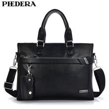 все цены на Hot Sale Men Genuine Leather Briefcase Male Business Shoulder Bag Travel Bag Man Leather Vintage Bags ZB-554 онлайн
