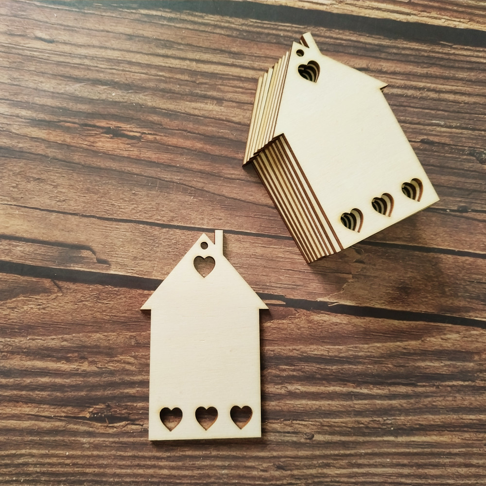 10 x HEART 8.5 x 5 cm  SHAPE UNPAINTED BLANK WOODEN WEDDING HANGING GIFT TAG