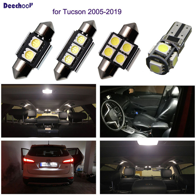 Tucson Lumière Blanc Hyundai Ampoule 19Canbus Voiture Intérieur Plaque Dôme D'immatriculation 16x Ix35 Pour Led 05 Deechooll hdotxsCBQr