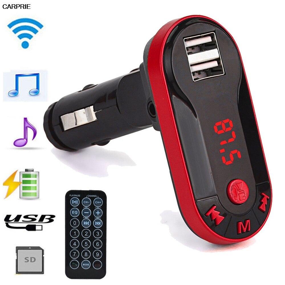 CARPRIE fm transmitter usb Wireless fm transmitter mp3-player Player Car Kit USB TF SD