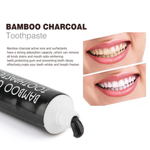 Teeth Whitening Set Bamboo Natural Activated Charcoal  Black Toothpaste