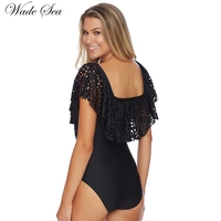 Hot Sale New One Piece Suit Lotus Leaf Sexy Swimsuit Show The A Smile Is Beautiful