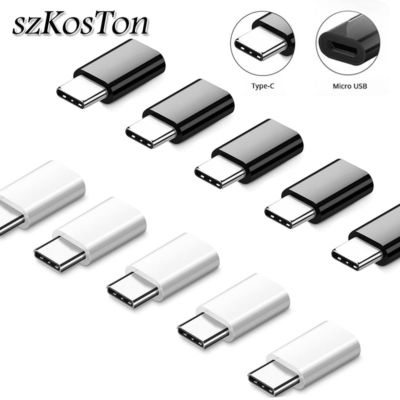 5pcs/1pc Type C Male To Micro Usb Female USB C OTG Adapter For Xiaomi 8 6 Mix3 One Plus 6t 6 5 Huawei Mate 20 Pro USB Converter
