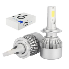 купить ECAHAYAKU 2Pcs All-in-one Car LED Headlight bulb 6000K 7800lm C6 H7 H4 9005 HB3 9006 HB4 Car Led h7 Headlamp 12V offroad 4x4 suv дешево